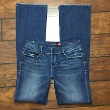 Peoples Liberation Boot Cut Jeans Size 27 Womens Dark Stretch Button Pockets