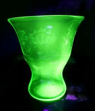 Beautiful Large Uranium Glass Vase