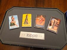 PINUP SERIES ZIPPO LIGHTER 1996 MINT 5 LIGHTER SET COY COLLECTIBLE OF YEAR 1996