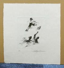 "LeRoy Neiman ""The Baseball Pleyer Suite"" ORIGINAL ETCHING SIGNED! RARE! #4"