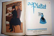 Das Plakat 1919 German poster magazine 6 issues original bound volume