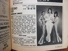 June 29, 1974 TV Guide(TONY  ORLANDO  AND  DAWN  DEBUT/APPLE'S  WAY/ESTHER ROLLE