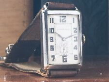 COLLECTIBLE 1930 LONGINES STERLING SILVER MAN'S WATCH Keeps Time w/ORIGINAL DIAL