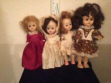 4 Walkers -  Dolls Not marked, Plastic Lash,Strawberry Blonde, Green & Blue Eyes