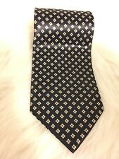 Men's BORDEAUX Geometric Necktie Neck Tie Navy T22 Diamond France patterened