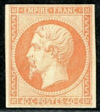 More details for france classic stamp sc.11 40c die i napoleon (1853) mint mng c$2,000- orange229