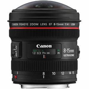 Canon EF 8-15mm f/4L USM Lens (Used Once in excellent condition)