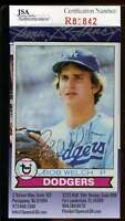 Bob Welch Jsa Coa Autographed 1979 Topps Rookie Authentic Hand Signed