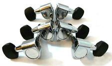 Acoustic guitar chrome plated machine head mini Ebony button 6ps 235C-15