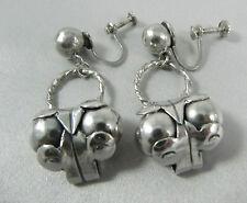 Art Deco Mexican sterling silver Spratling design Cocos earrings Pre 1948
