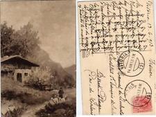 Tarjeta Postal.  Enviada desde VITORIA. Paisaje. Reverso = Serie Nr. 2889.