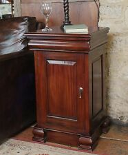 La Roque solid mahogany furniture side end lamp bedside table with door