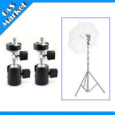 2PCS Ball Head Umbrella/Flash Mount/Holder/Bracket C tripod for Light Stand