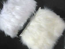 F468 PER FEET-Pale Beige Turkey Marabou Hackle Fluffy Feather Fringe Trim Craft