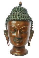BUDDHA Kopf aus Messing - 27 cm 4 kg Asiatika Indien Tibet Nepal Goa Buddhakopf