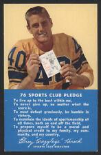 "1959 Elroy ""Crazy Legs"" Hirsch, Union 76 Post Card"