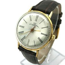 LUCH Retro VYMPEL Costume Gold Plated USSR Slim AU20 Watch 80s Belarus Classic