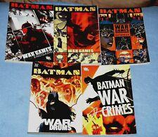 BATMAN: WAR GAMES V# 1, 2, 3 + WAR CRIMES &  WAR DRUMS,  TPB, FULL SET:  OOP