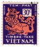 (I.B) Vietnam Revenue : Duty Stamp 30c