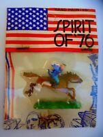 Altfigur Paul Revere im Blister Reiter auf Pferd 70er Hong Kong Ori Spirit 76