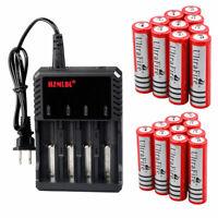 18650 Battery 3.7V Li-ion 4200mAh Rechargeable Batteries For LED Flashligh Lot