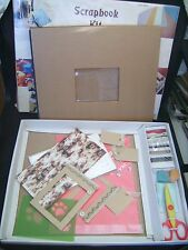 Kit de scrapbooking (album dos bleu + accessoires) neuf emballé