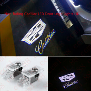 No Fading Car LED Logo Door Step Courtesy Light For Cadillac ATS XTS XT4 XT5 SRX