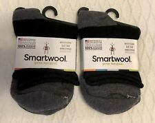 2 Pairs Smartwool Merino Wool Women Luna Mini Boot Socks in Black Heather Size M