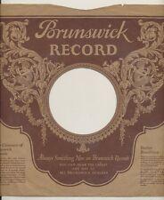 78 RPM Company logo sleeves-BRUNSWICK  (Claire Dux))