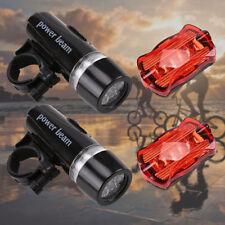 2er LED Fahrradbeleuchtung Set Fahrrad Licht Fahrradlampe Rücklicht Lampenset