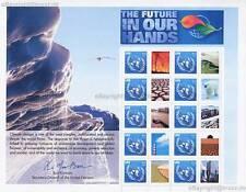 UNO NEW YORK - 2007 GRUSSMARKEN BOGEN 90c # 1062 KLIMAWANDEL FUTURE - S 20