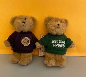 Boyds Bears Lot of 2 Plush Keychains Bear Country Bestest Friend Thinkin' of Ya'