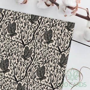 Gorgeous Lino Print Owl Gift Wrap Wrapping Paper