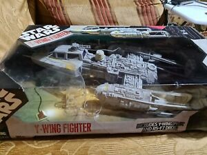Star Wars Y-Wing Fighter 30th Anniversary, Hasbro 2007 Boxed NO DROID