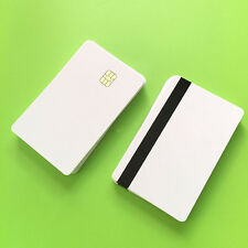 10 Pcs Blank Smart Card Sle4442 Chip + Magnetic Strip Hico 3 track Inkjet PVC