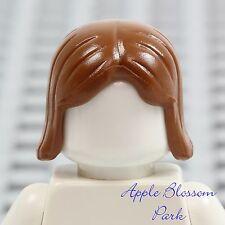 NEW Lego Minifig Short DARK FLESH HAIR - Girl Female Long Brown Boy Head Gear