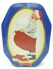 Snickers Christmas Tin 1998 Norman Rockwell From Saturday Evening Post in 1916