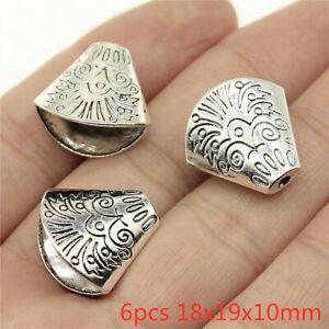 6pcs 18x19x10mm Charm Tassel End Caps Bead Jewelry Findings Wholesale Tassel