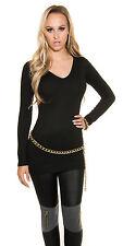 Sexy Longpullover Pulli Pullover Long sexy Rücken Ausschnitt Schwarz 34 36 38