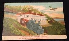 Tavern Of Tamalpias Train CA California Postcard Airplane Metal Shingles Advert.