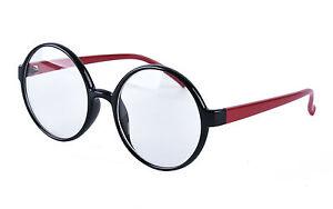 Round Oversized  Retro Optical Eyeglass Frames Plain Glasses Clear Lens Rx 18003