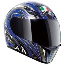 AGV K3 Evil Full Face Street Motorcycle Helmet Blue Silver XSmall XS