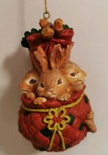 Hanging Christmas Tree decoration - Bag of Bunnie Rabbits Free P&P