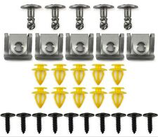 30 Clip Kit for Audi A5 Q7 Engine Cover Undertray Wheel Arch Door Trim Panel Set