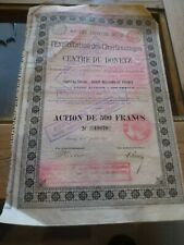 Action S.A. Belge Exploitation des Charbonnages Centre du Donetz - Seraing 1898