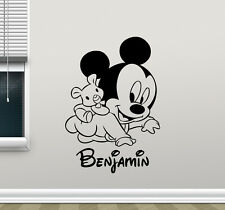 Personalized Mickey Mouse Wall Decal Custom Boy Vinyl Sticker Decor Mural 97crt