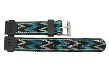 TIMEX 17MM NYLON RUBBER SPORT ACTIVE TRIBAL PRINT STEALTH WATCH BAND STRAP