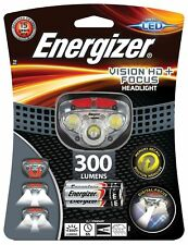 Energizer Vision HD+ Focus LED Camping Headlight Hands Free Headtorch 300 Lumens