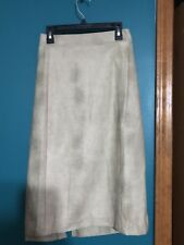 Women's Beige Suede Skirt By marks. Size XXL Looks Great With Boots!