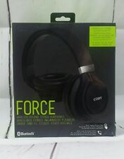 NEW Coby Force Folding Bluetooth Headphones with Built-In Mic Black folding